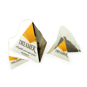 promotional pyramid tea bags with printed tags IMC-C-0433