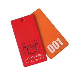 promotional rectangle cloakroom tags SEU-HP8849
