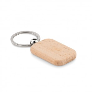promotional rectangular wooden key ring MOB-MO9774