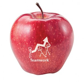 promotional red apples with printed logo IMC-C-0180