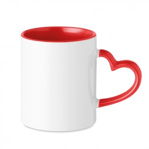 promotional red heart handle sublimation mugs MOB-MO9455