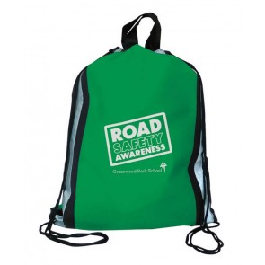 promotional reflector drawstring bags  SEU-LE9675