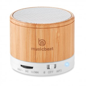 promotional round bamboo bluetooth speakers MOB-MO9608