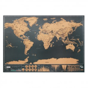 promotional scratch world map 42x30cm MOB-MO9736