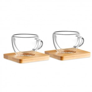 promotional set of 2 double wall espresso MOB-MO9709