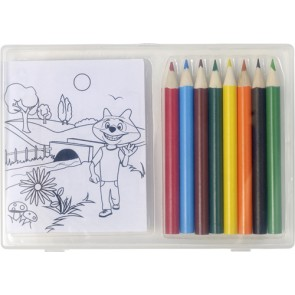 promotional colouring pencils and colouring sheets IME-7788
