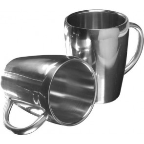 promotional set of two steel mugs  IME-4665