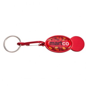promotional shopper trolley coin keyrings SEU-KY4544