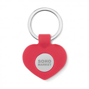 promotional silicone key ring with token MOB-MO9208