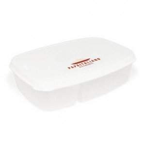 promotional split cell lunch box and cutlery set  LTX-RC0200