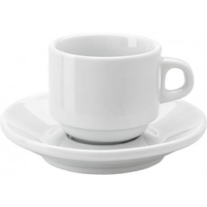 promotional stackable porcelain cup and saucer 130ml IME-3463