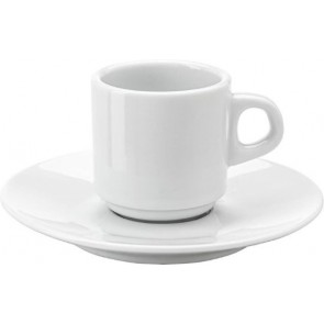 promotional stackable porcelain cup and saucer 99ml IME-3474