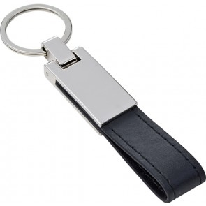 promotional steel key chain with pu loop IME-8779