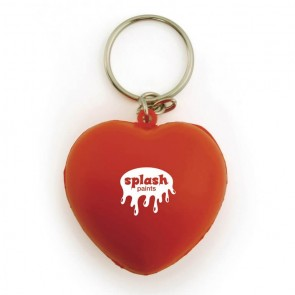 promotional stress heart keyrings LTX-EC0064