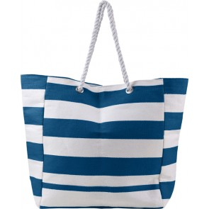 promotional beach bags with white cord handles IME-7857