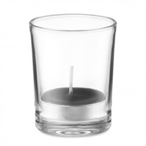 promotional transparent glass holder candle MOB-MO9734