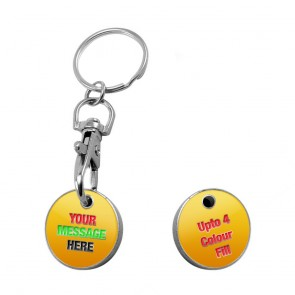 promotional trolley coin keyring   enamelled PMT-UTR1141