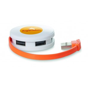 promotional roundhub usb hubs (4 port) MOB-MO8671
