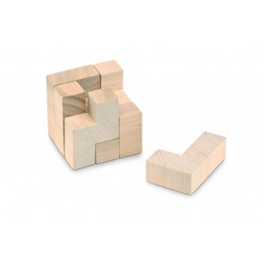 promotional wooden puzzles in cotton pouches MOB-KC2585