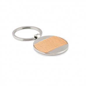 promotional zinc alloy and wood key ring MOB-MO9848