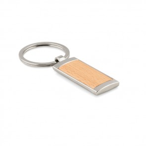 promotional zinc alloy and wood key ring MOB-MO9849