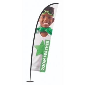 promotional zoom feather flags ULT-UF-ZM-SMZ